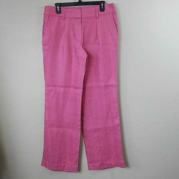 Clothing, Shoes & Accessories Loft Pink Size 0 100% Linen Marisa Pants Trousers Lightweight Summer Career